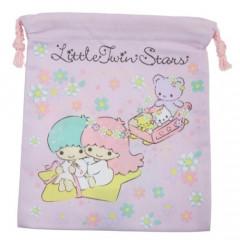 Japan Sanrio Drawstring Bag - Little Twin Stars Light Purple