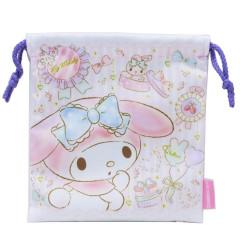 Japan Sanrio Drawstring Bag - My Melody White & Pink