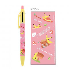Japan Pokemon 2+1 Multi Color Ball Pen & Mechanical Pencil - Pikachu