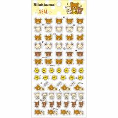 Japan San-X Rilakkuma Bear Seal Sticker - Korilakkuma, Kiiroitori & Chairoikoguma