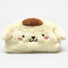 Japan Sanrio Pompompurin Pudding Dog Fluffy Pouch
