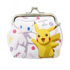 Japan Pokemon Coin Purse Wallet - Pikachu & Mew EVOLUTION
