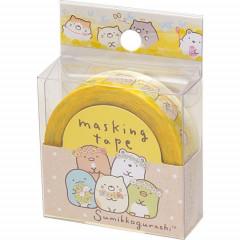 San-X Japanese Washi Paper Masking Tape - Sumikko Gurashi Yellow 15mm × 12m