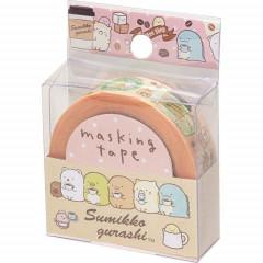 San-X Japanese Washi Paper Masking Tape - Sumikko Gurashi Coffee 15mm × 12m