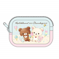 Japan Rilakkuma Pouch (S) - Korilakkuma meets Chairoikoguma Ice Cream
