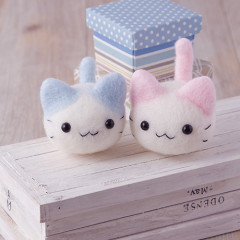 Japan Hamanaka Wool Needle Felting Kit - Pastel Nyankoro Kitten