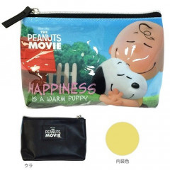 Japan Snoopy Makeup Pouch Bag Pencil Case (M) - Hug