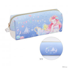 Japan Disney Pencil Case (M)  - Princess Ariel Purple Blue