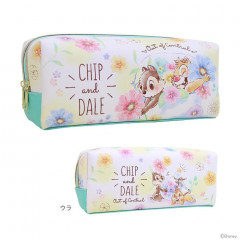 Japan Disney Pencil Case (M)  - Chip & Dale Flower
