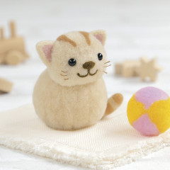 Japan Hamanaka Aclaine Pom Pom Craft Kit - Cat and Ball