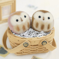 Japan Hamanaka Aclaine Pom Pom Craft Kit - Owls