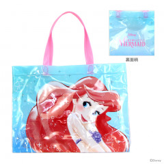 Japan Disney Clear Eco Shopping Bag - Little Mermaid Ariel