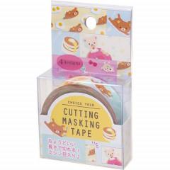 San-X Japanese Washi Paper Cutting Masking Tape - Rilakkuma Bear Pancake