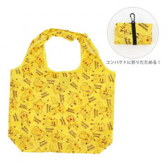Japan Pokemon Eco Shopping Bag - Pikachu All Around Yellow