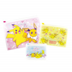 Japan Pokemon Zip Folder File Set 3 - Pikachu & Eevee