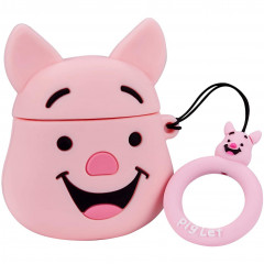 Smile Piglet AirPods Case with Ring Holder