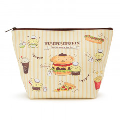 Japan Sanrio Pompompurin Pouch (L) Fast Food