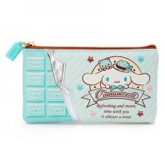 Japan Sanrio Cinamoroll Flat Pouch (M) - Chocolate