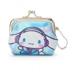 Japan Sanrio Cinnamoroll Keychain Coin Purse - Iridescent Sky Blue