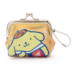 Japan Sanrio Pompompurin Keychain Coin Purse - Iridescent Orange