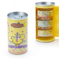 Sanrio Pompompurin Japanese Washi Paper Masking Tape - 3 Rolls Set Can