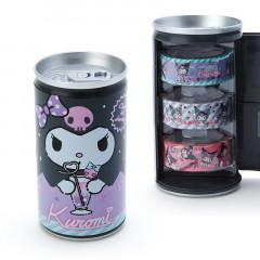 Japan Sanrio Washi Masking Tape 3 Rolls Set Can - Kuromi