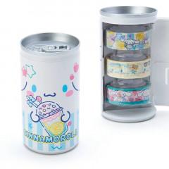 Japan Sanrio Washi Masking Tape 3 Rolls Set Can - Cinnamoroll