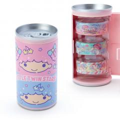 Japan Sanrio Washi Masking Tape 3 Rolls Set Can - Little Twin Stars
