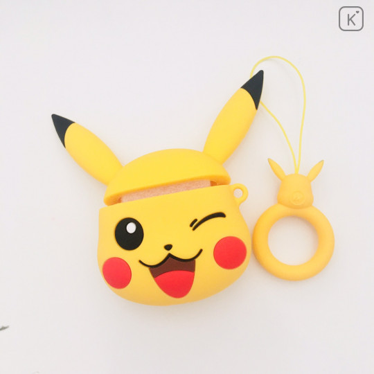 Pokemon Pikachu Wink AirPods Case with Ring Holder - 1