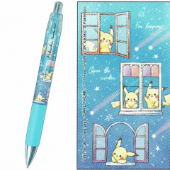 Japan Pokemon Mechanical Pencil - Pikachu number025 Window Star Night Light Blue