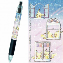 Japan Pokemon Ball Pen - Pikachu number025 Window Star Night Black