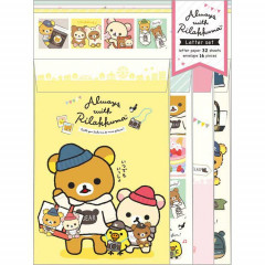 Japan Rilakkuma Letter Envelope Set - Always together