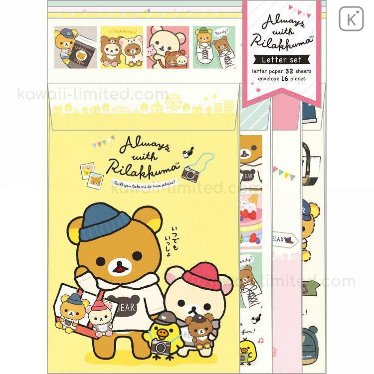 Rilakkuma Letter set Envelopes Always with Rilakkuma Japan SAN-X