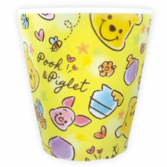 Japan Disney Acrylic Cup  - Winnie the Pooh & Piglet Yellow