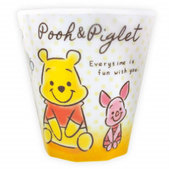 Japan Disney Acrylic Cup  - Winnie the Pooh & Piglet Smile