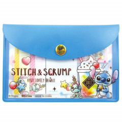 Japan Disney Stitch Memo Sticker & Folder Set