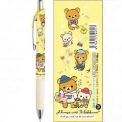 Japan Rilakkuma Pentel EnerGel 0.5mm Gel Pen - Travel with Korilakkuma Yellow