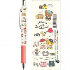 Japan Rilakkuma Pentel EnerGel 0.5mm Gel Pen - Travel with Korilakkuma White