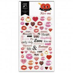 Korea Sonia Photo Nylon Sticker - Kiss Me