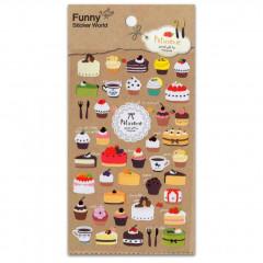 Korea Funny Sticker World Sticker - Patisserie Dessert Cake
