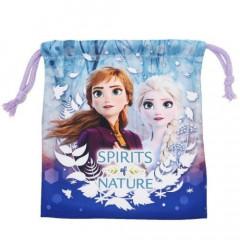 Japan Disney Drawstring Bag - Frozen II Characters