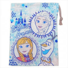 Japan Disney Drawstring Bag - Frozen II Comic Style