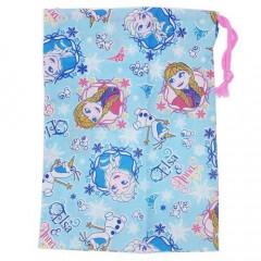 Japan Disney Drawstring Bag - Frozen II Comic Style Blue