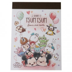 Japan Disney B8 Mini Notepad - Tsum Tsum Love
