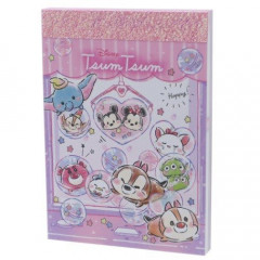 Japan Disney B8 Mini Notepad - Tsum Tsum Love Pink