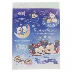 Japan Disney B8 Mini Notepad - Tsum Tsum Star Night