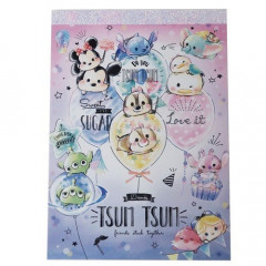 Japan Disney A6 Notepad - Tsum Tsum Party & Balloon