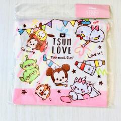 Japan Disney Drawstring Bag - Tsum Tsum Love