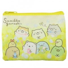 Japan Sumikko Gurashi Zipper Pouch Coin Wallet & Pocket Tissue Holder - Yellow