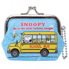 Snoopy Coin Purse Mini Pouch - School Bus